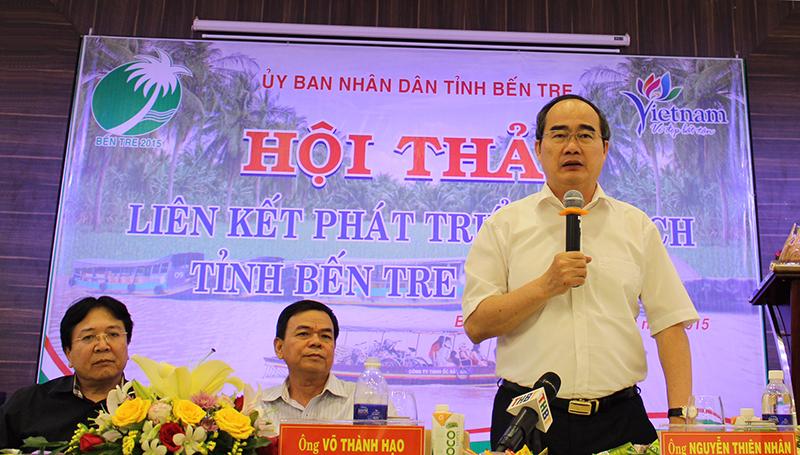Chủ tịch Ủy ban Trung ương MTTQ Việt Nam phát biểu tại Hội thảo. Ảnh: VGP